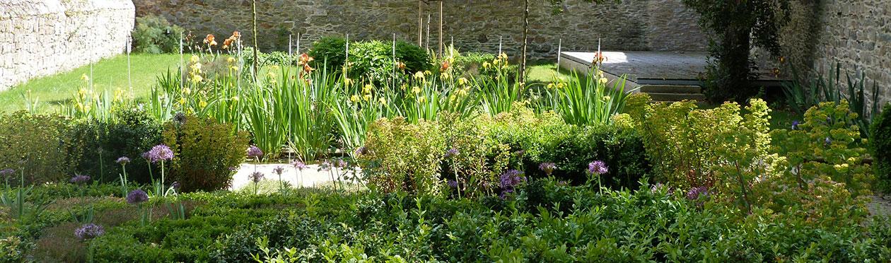 Jardin Ernest Renan, un filtre d'Iris au cœur du Jardin.