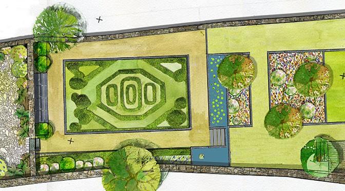 Jardin Ernest Renan, successions d'espaces, filet d'eau et intimité.