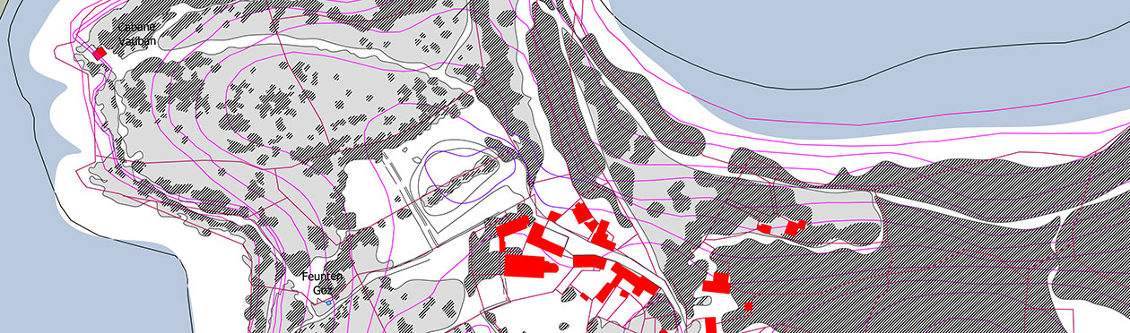 Esquisse Yaudet – Plan d'esquisse du projet mise en valeur du site du Yaudet.