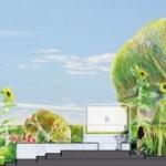 Chaumont-sur-Loire, Coupe 100 – Profil sur l'ensemble du jardin.