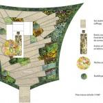 Chaumont-sur-Loire, Plan niveau massif 1-50 – dessin d'étude pour composition des niveaux du jardin.